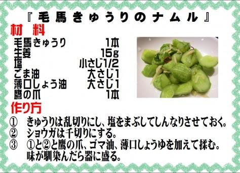 毛馬きゅうりのナムル>